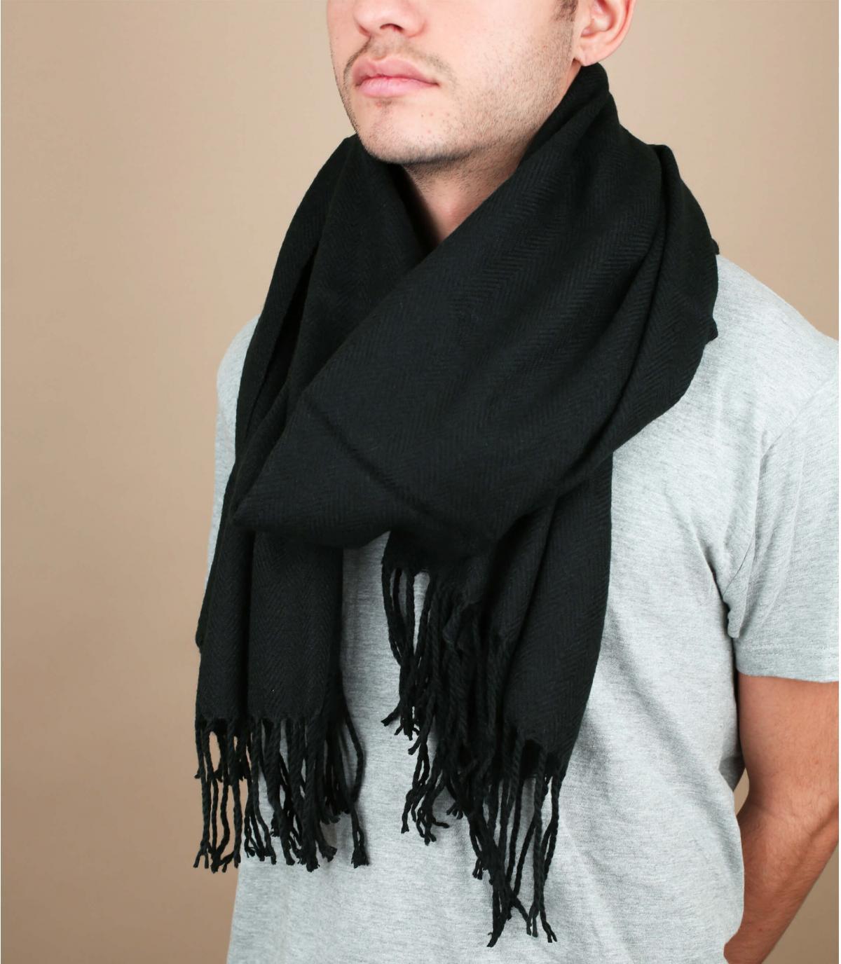 Heren schwarzer Schal