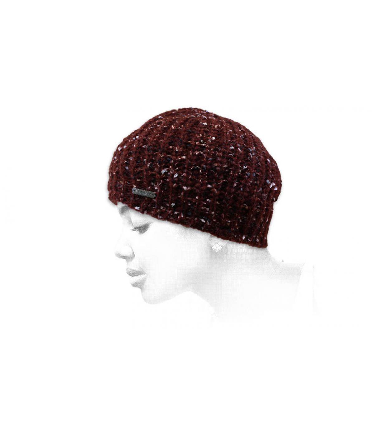 Lange Mütze bordeaux