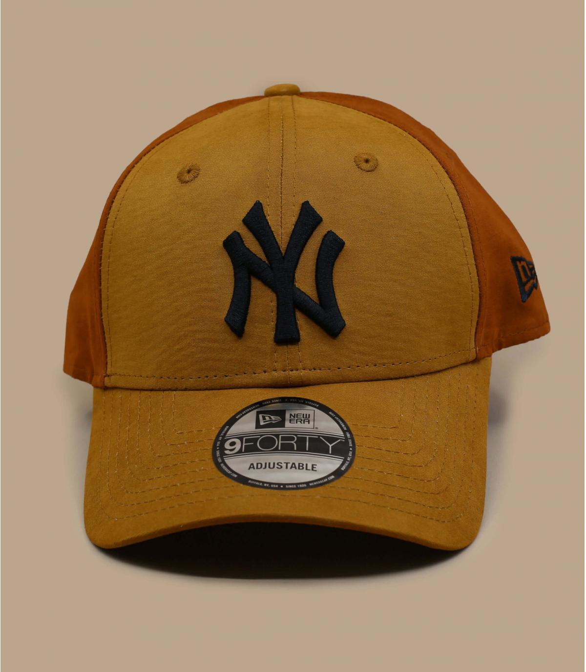 Cap NY beige braun