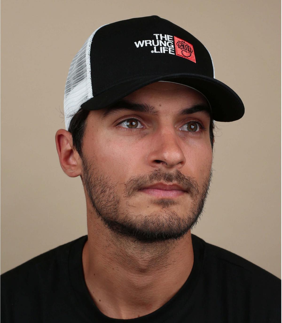 Trucker Cap Wrung schwarz