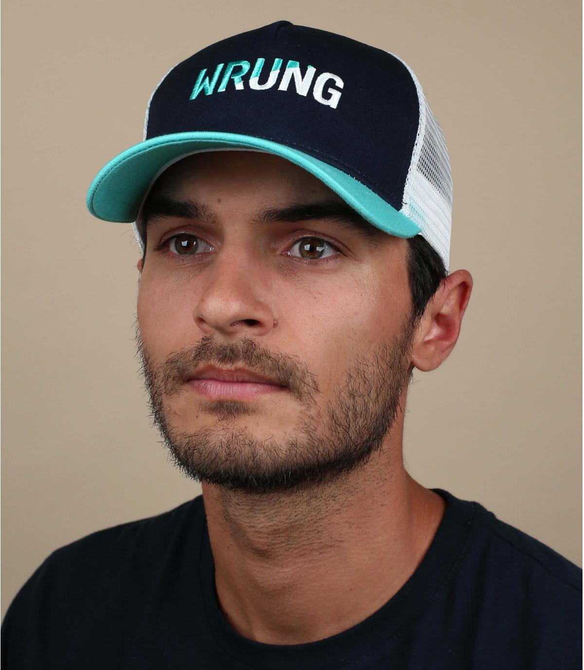 Trucker Cap Wrung blau weiß