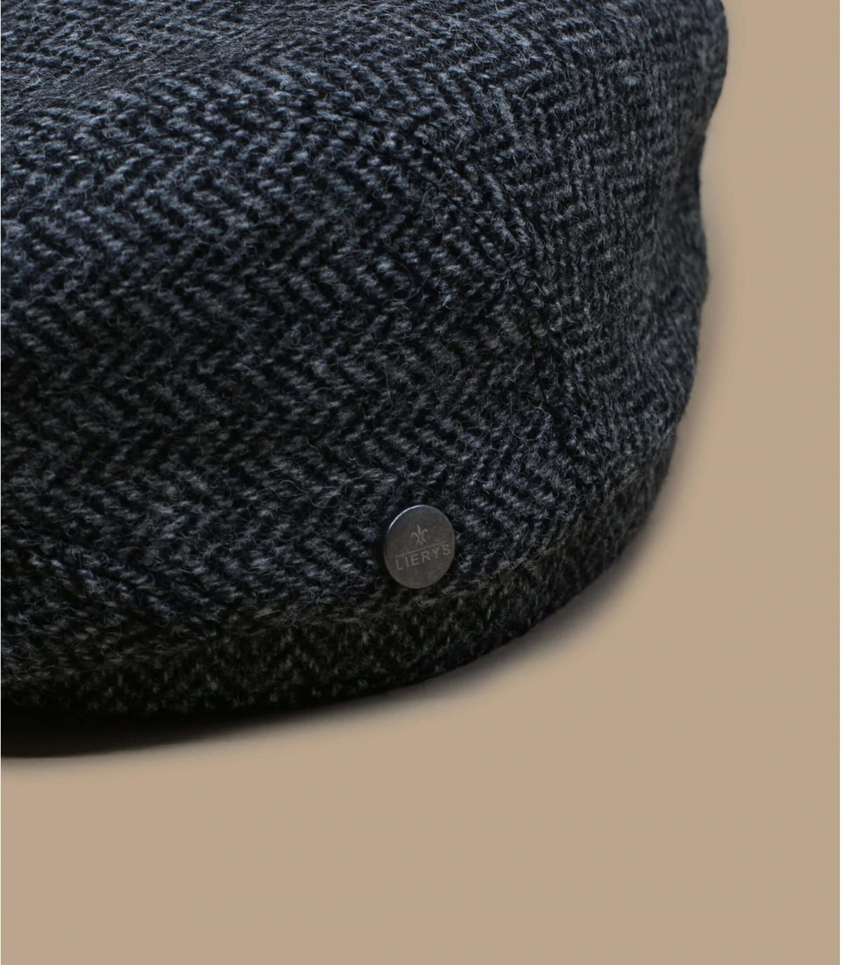 Schiebermütze grau Wolle