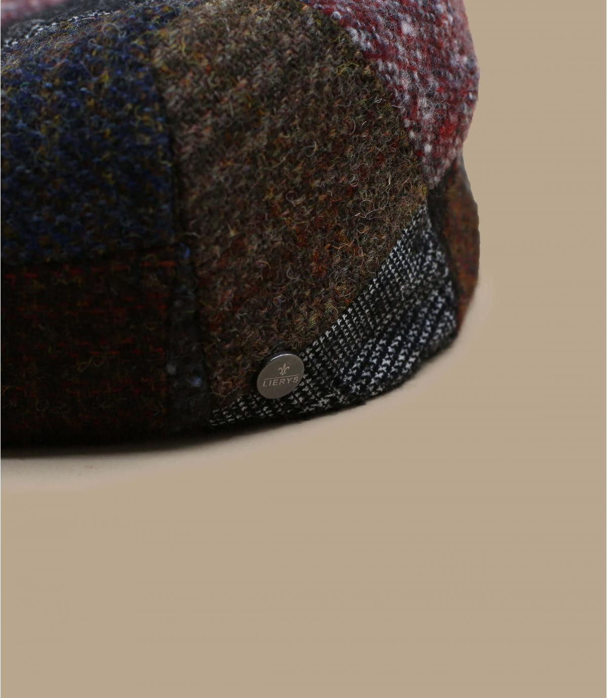 Schiebermütze Patchwork Wolle