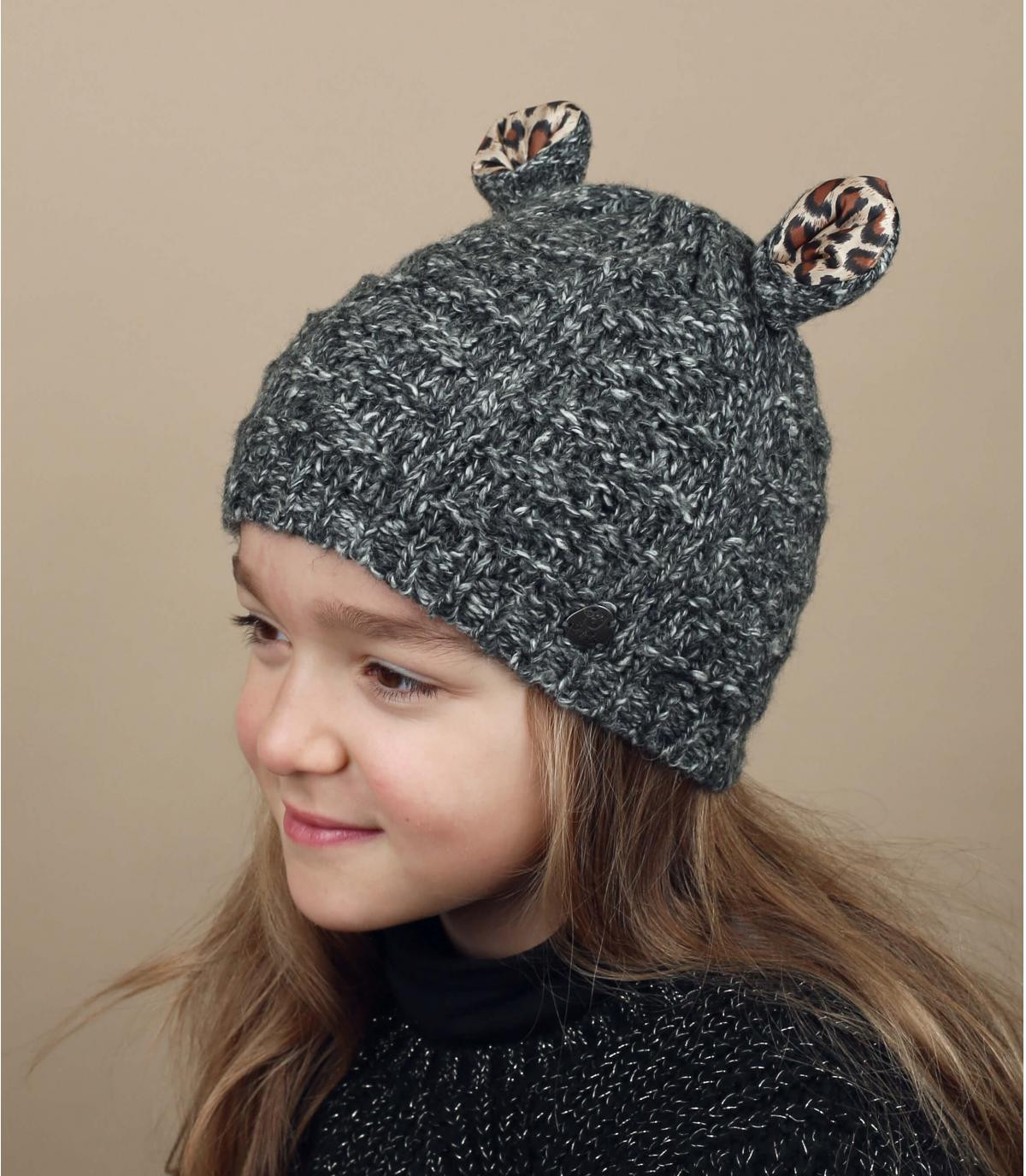 Graue Kinder Mütze