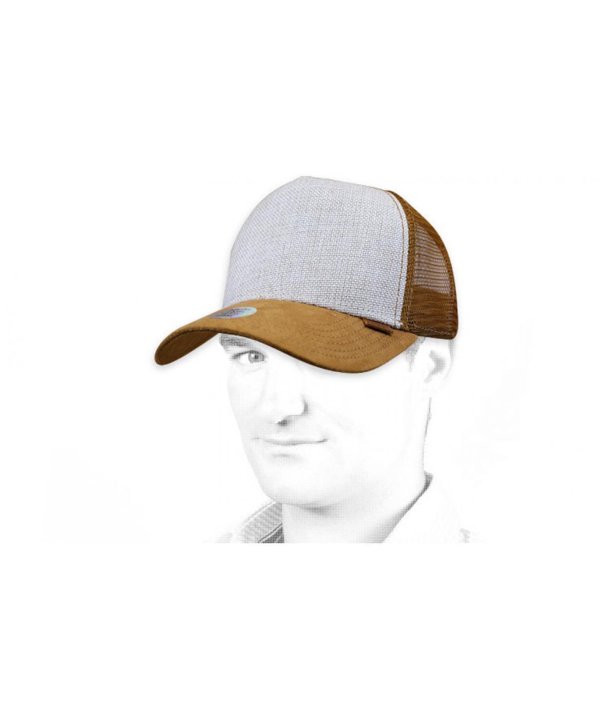 Trucker Cap  beige suede Djinns