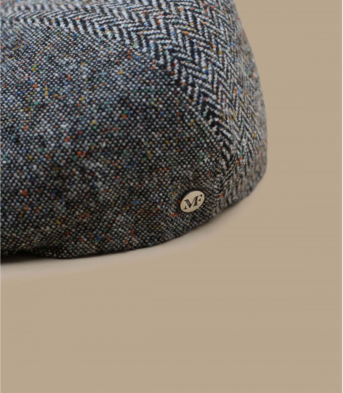 Ballonmütze grau meliert Wolle