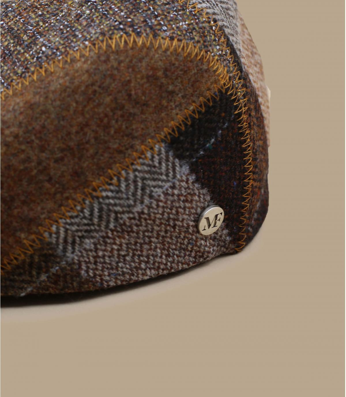 Flatcap Wolle braun Fléchet