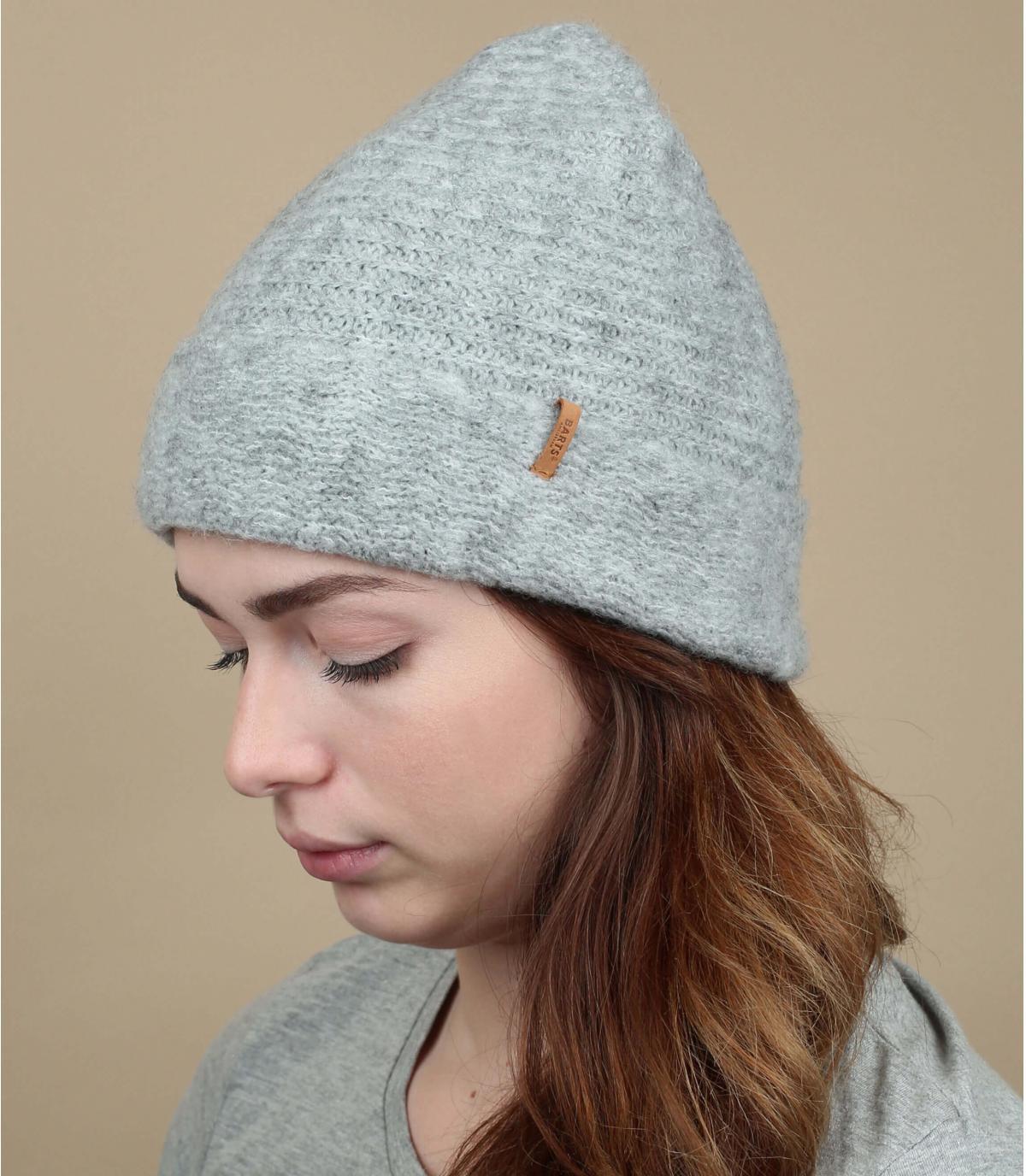 Cuff Mütze grau meliert