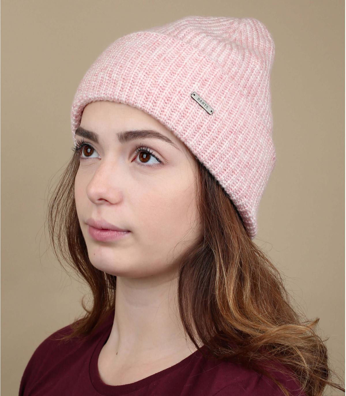 Cuff Mütze rosa
