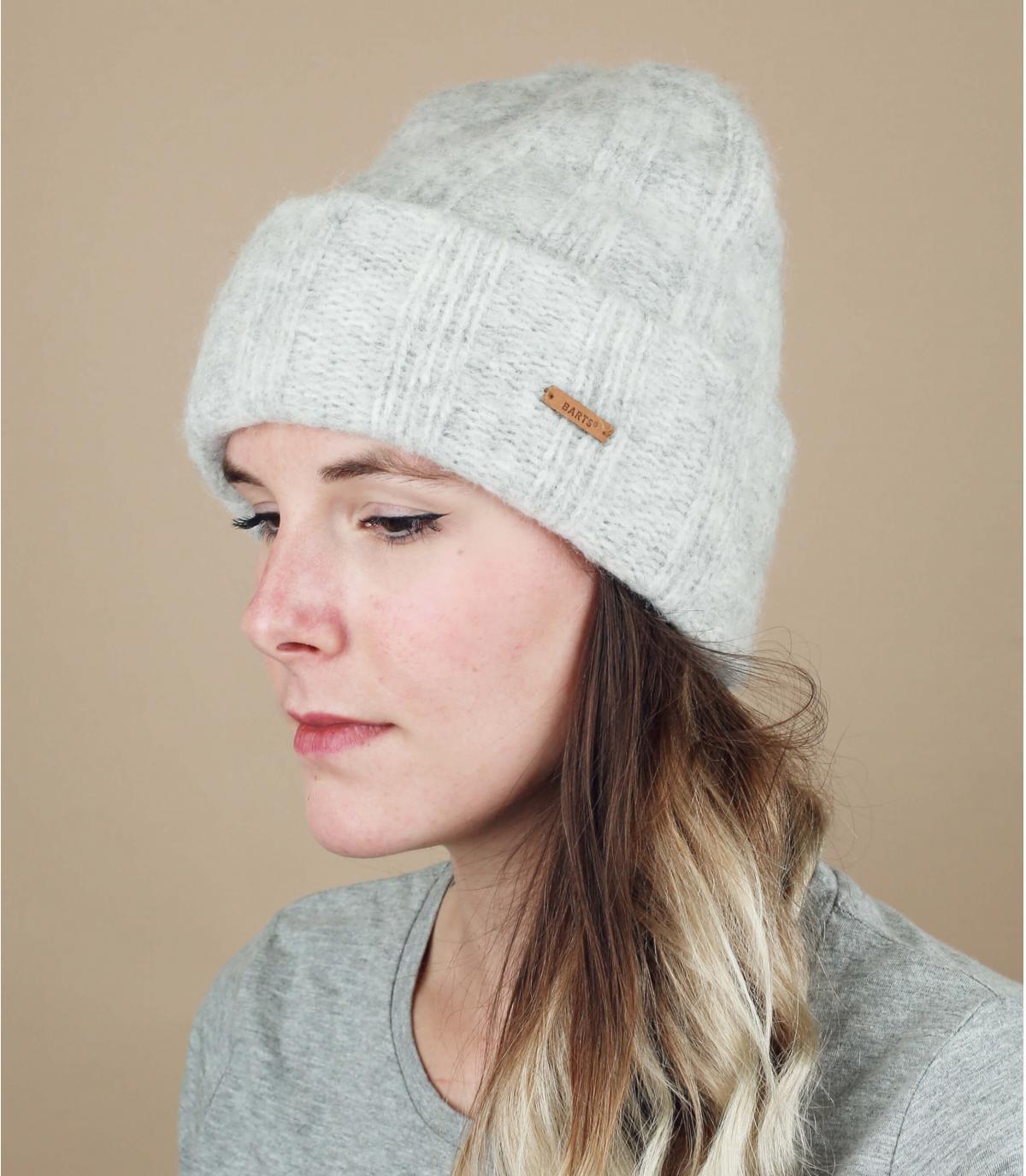 Mütze grau Alpaga