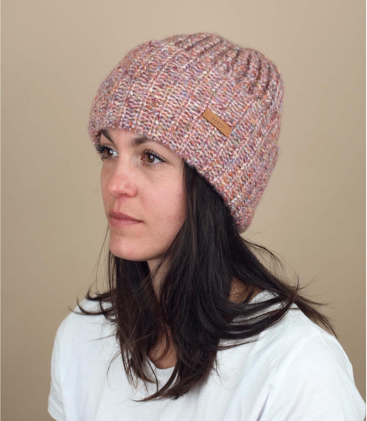 Mütze rosa meliert