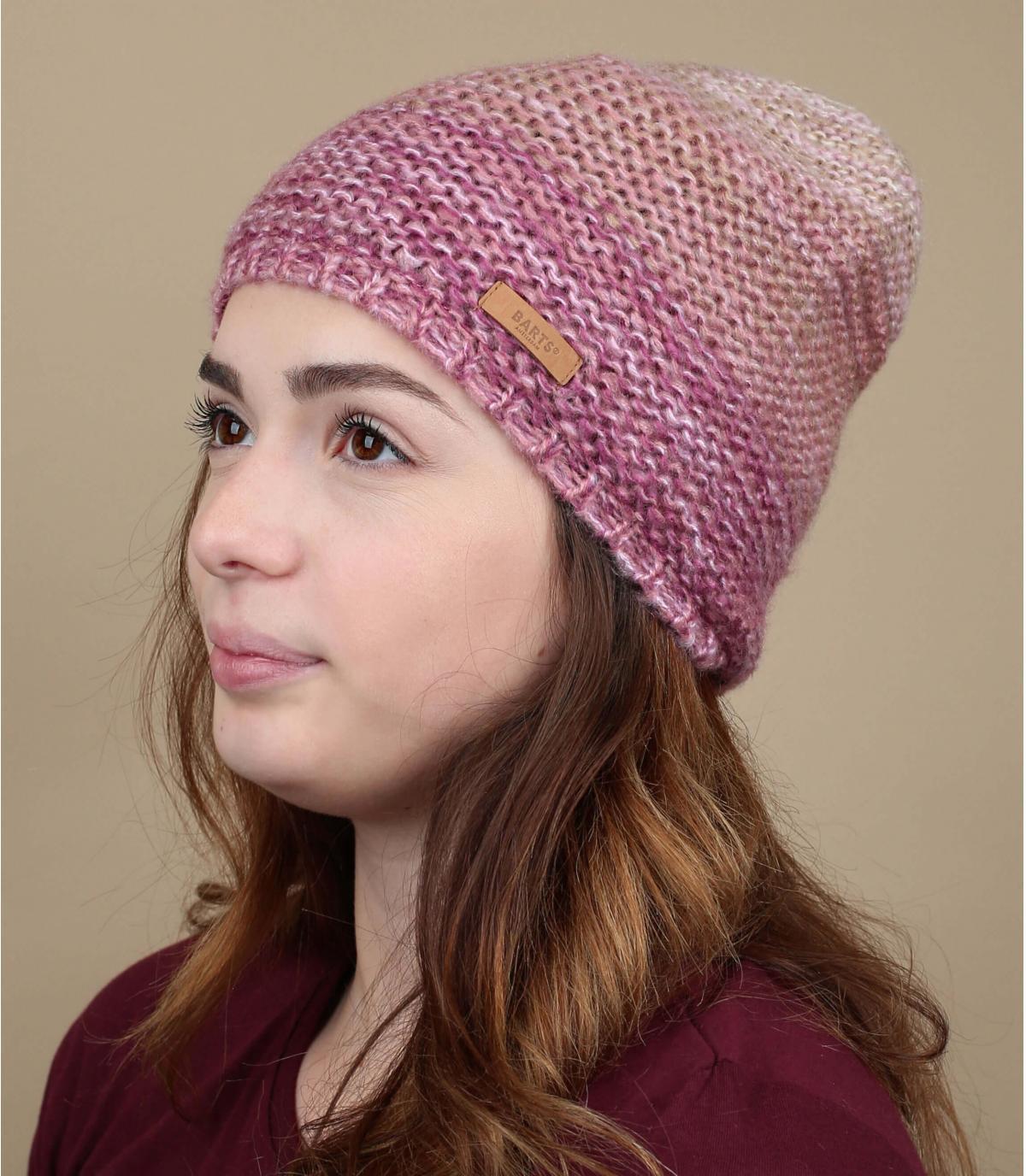 Mütze rosa abgestuft