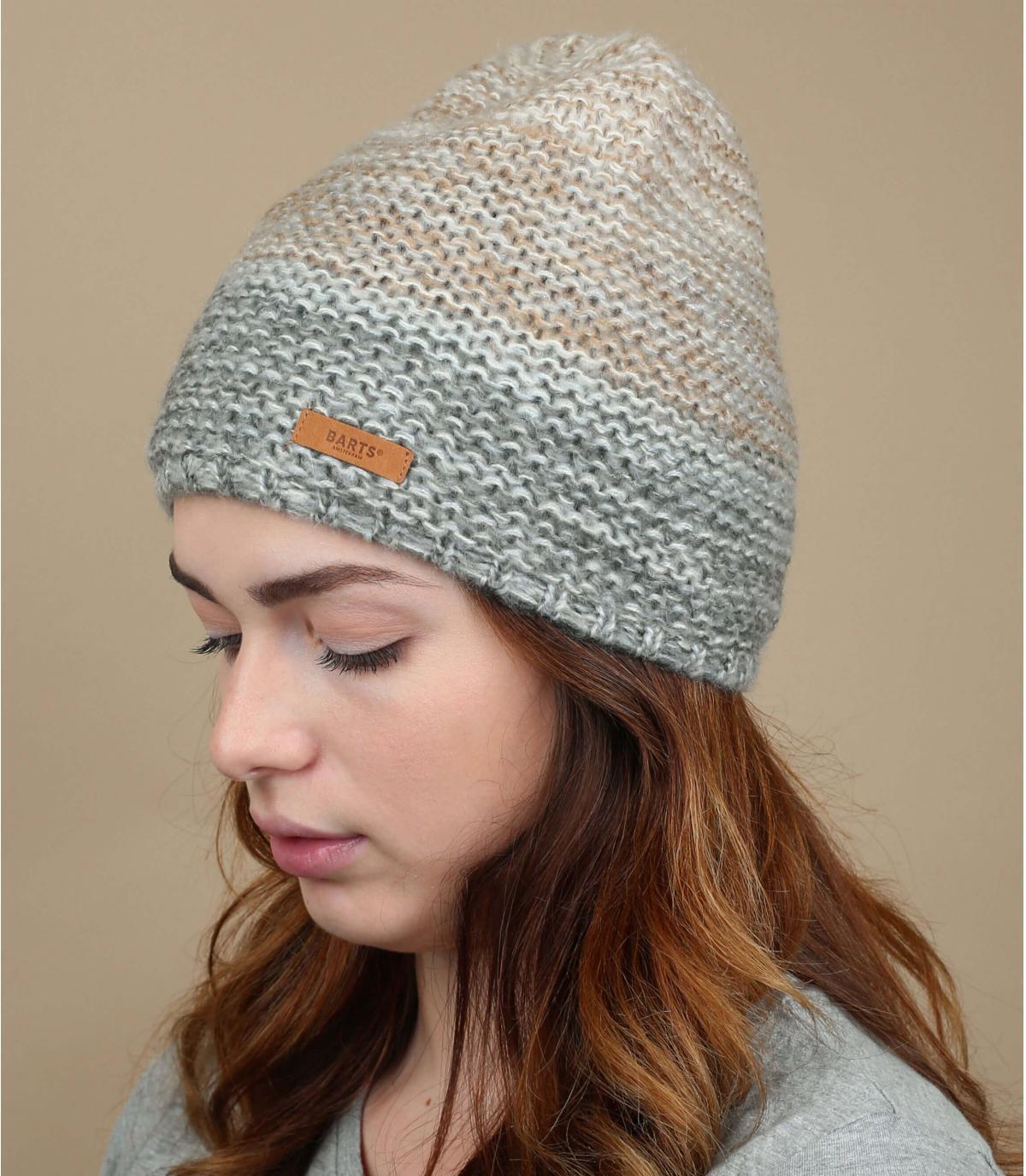 Mütze grauer Farbverlauf