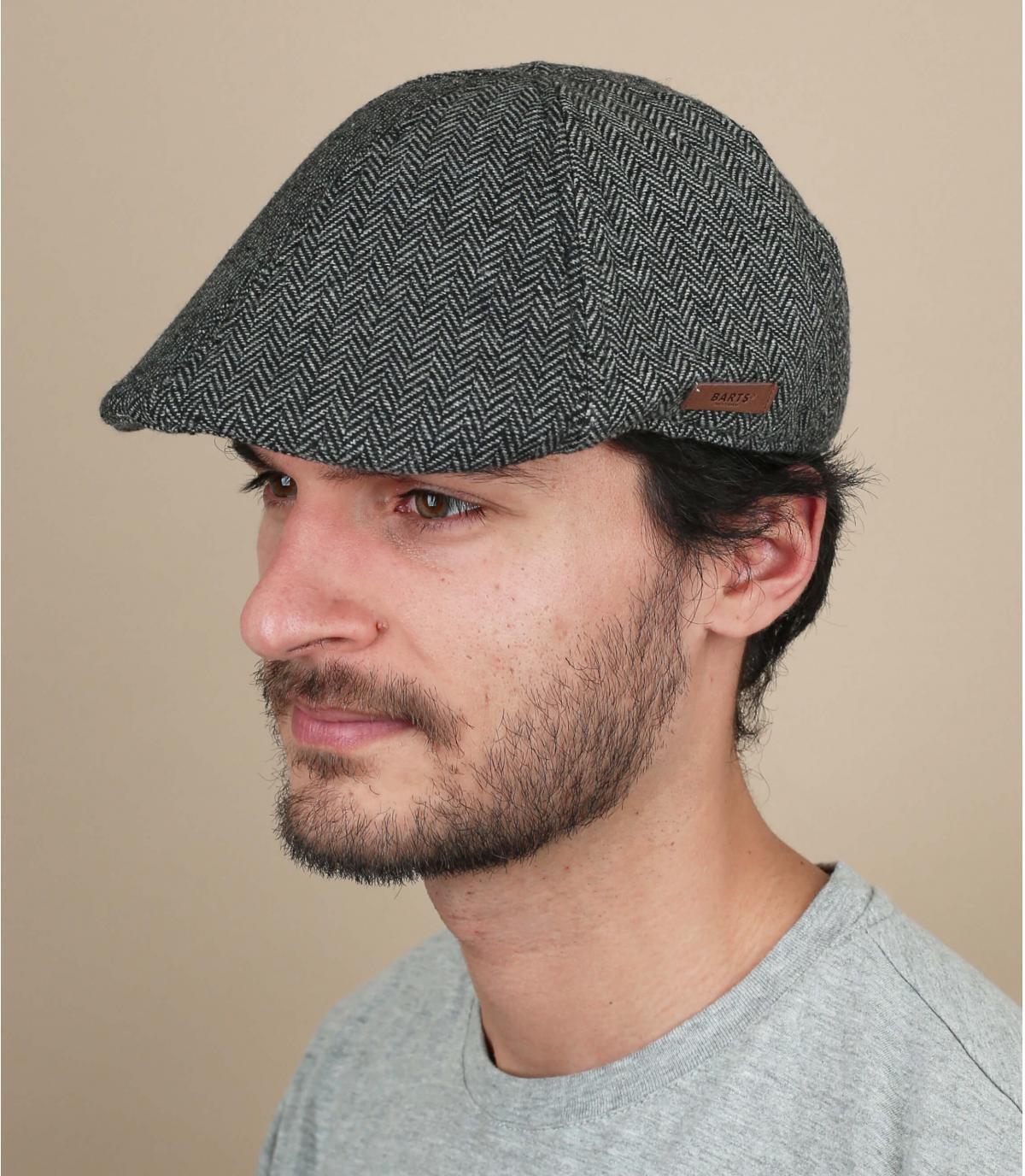 Flatcap Wolle Barts schwarz