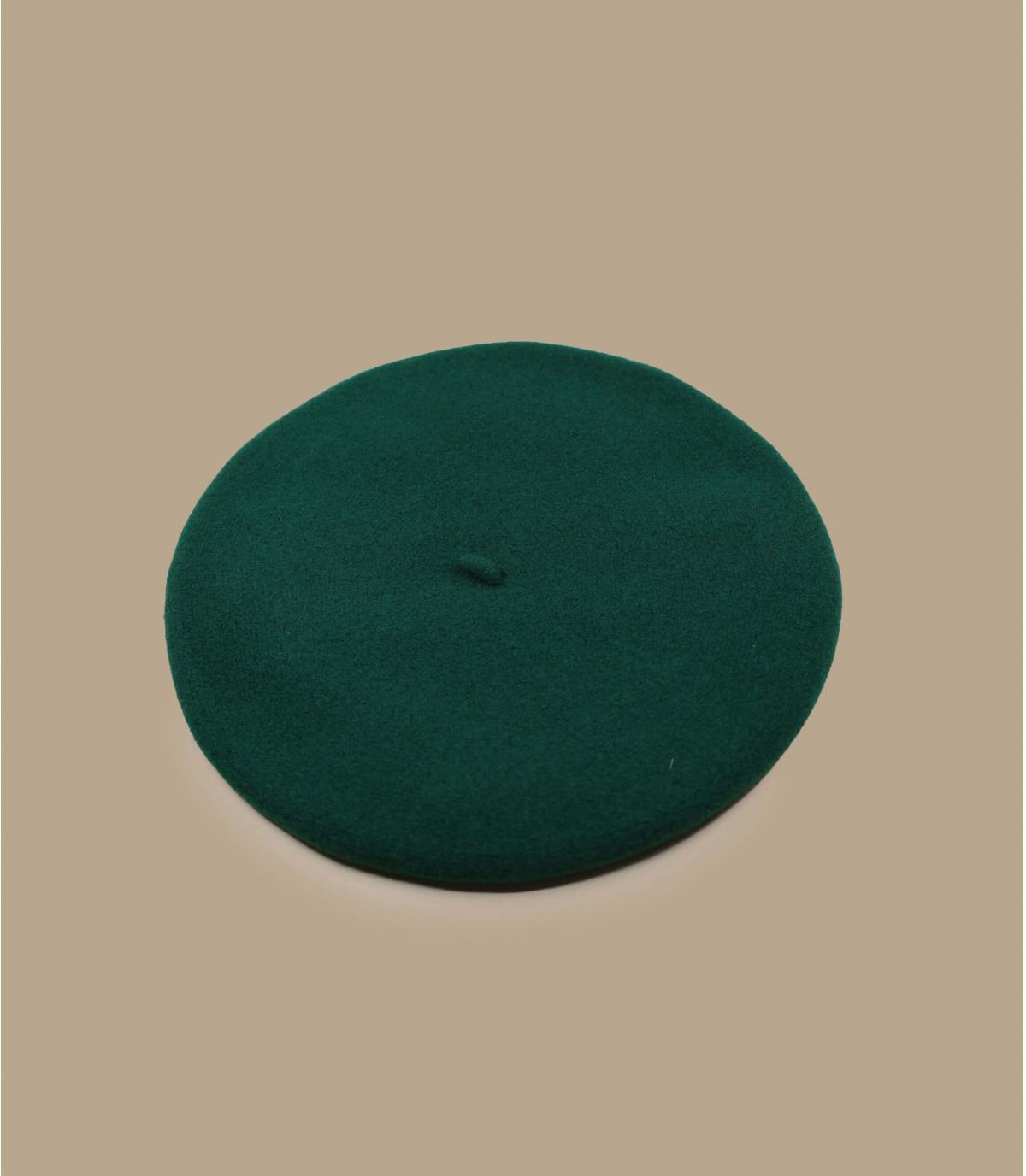 Baskenmütze Laulhère grün Merino