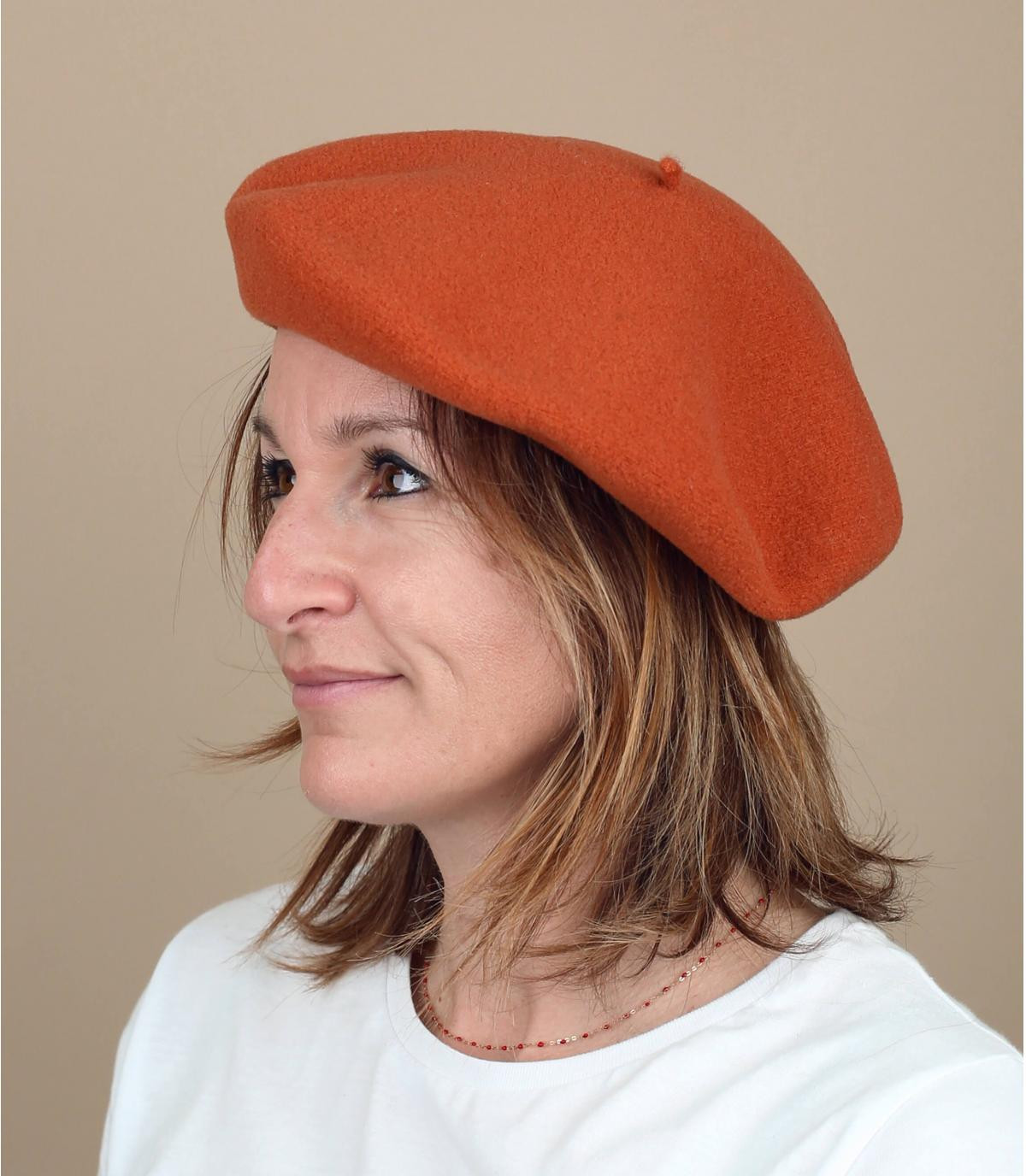Baskenmütze orange Laulhère