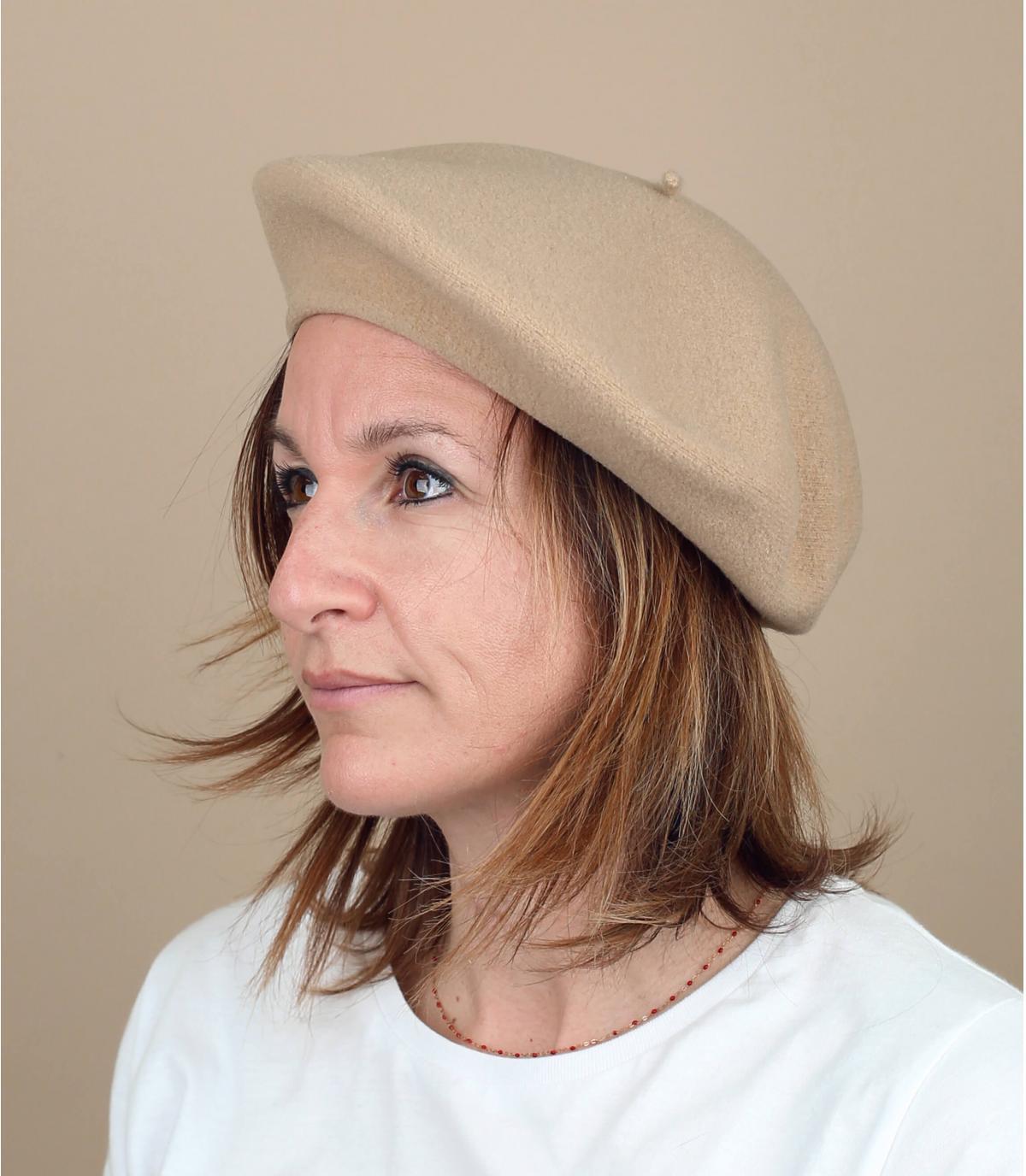 Baskenmütze beige Laulhère