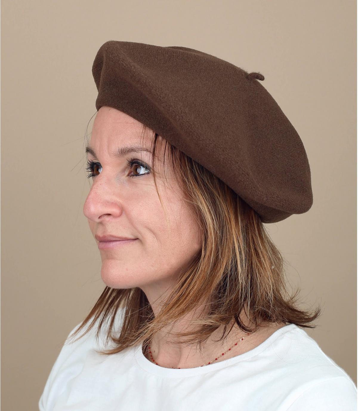 Baskenmütze braun Laulhère