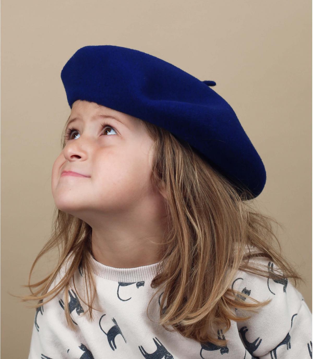 Kinder Baskenmütze Wolle