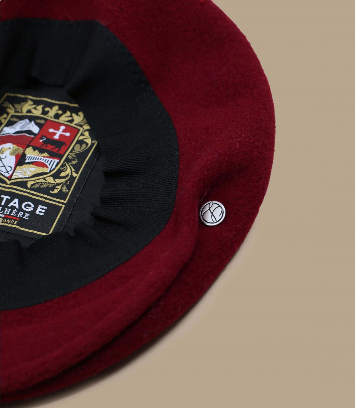 Details Flatcap 1840 bordeaux - Abbildung 3