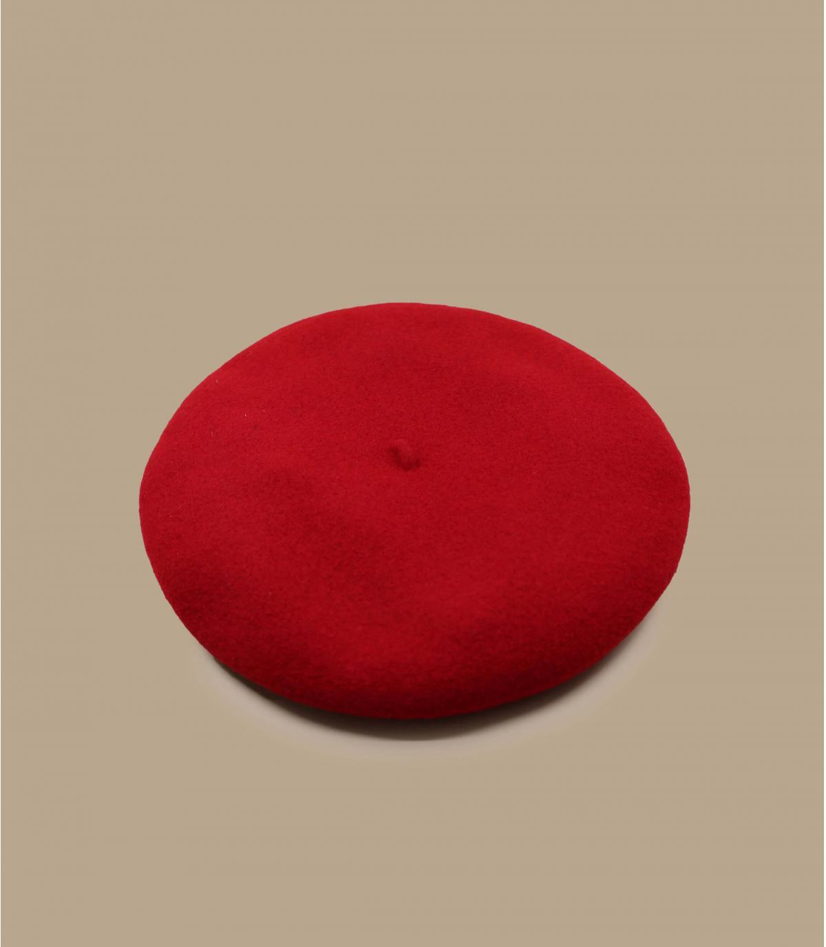 Rote Baskenmütze Hahnentritt