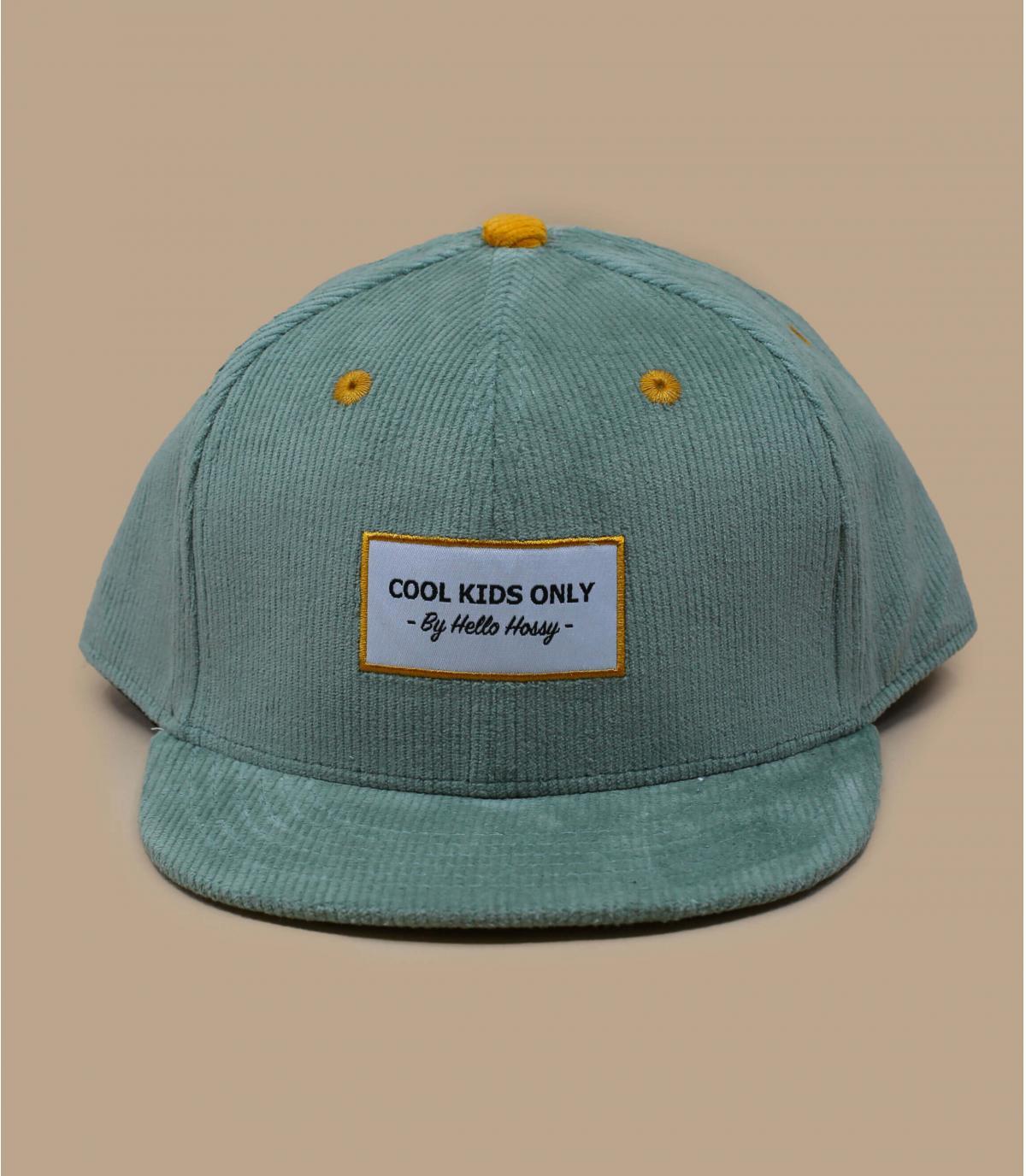 Kinder Cap Cordsamt blau