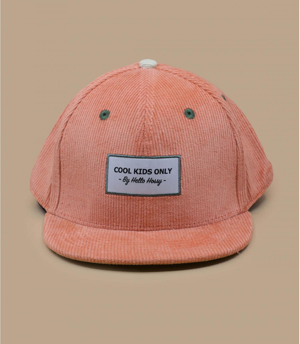 Kinder Cap Cordsamt rosa
