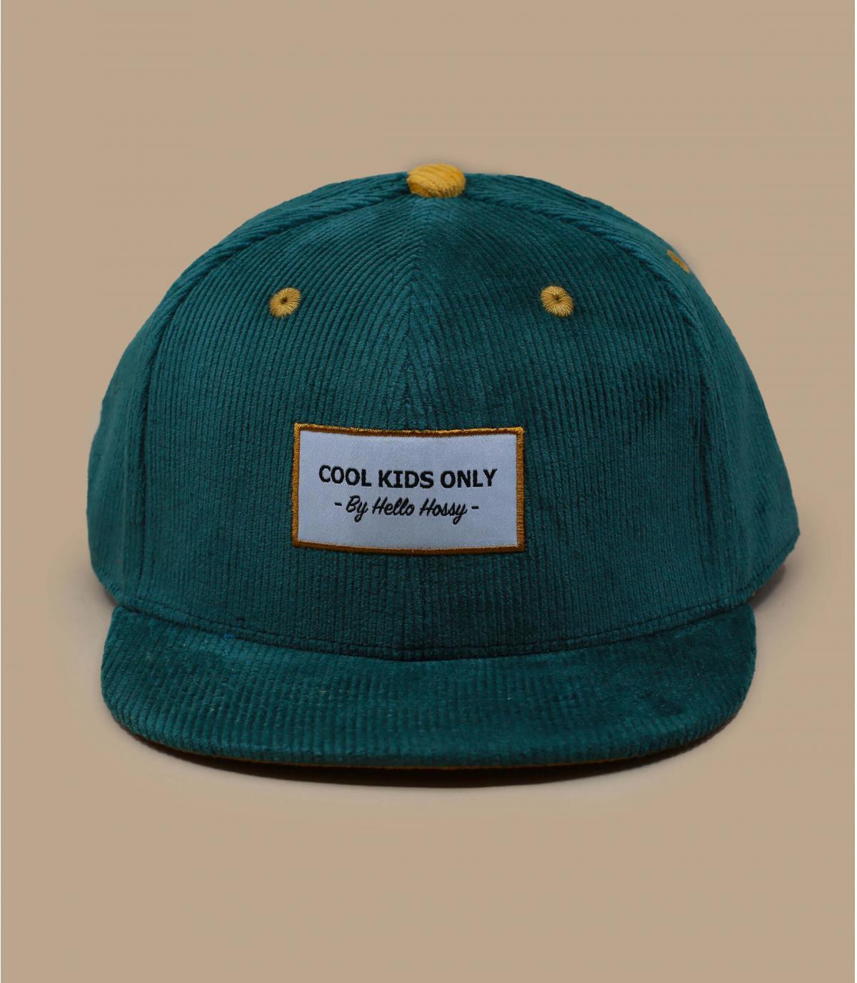Kinder Cap Cordsamt grün