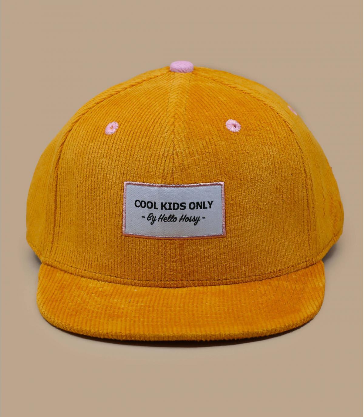 Kinder Cap Cordsamt gelb