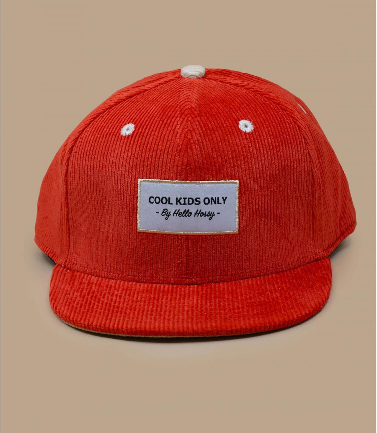 Kinder Cap Cordsamt orange