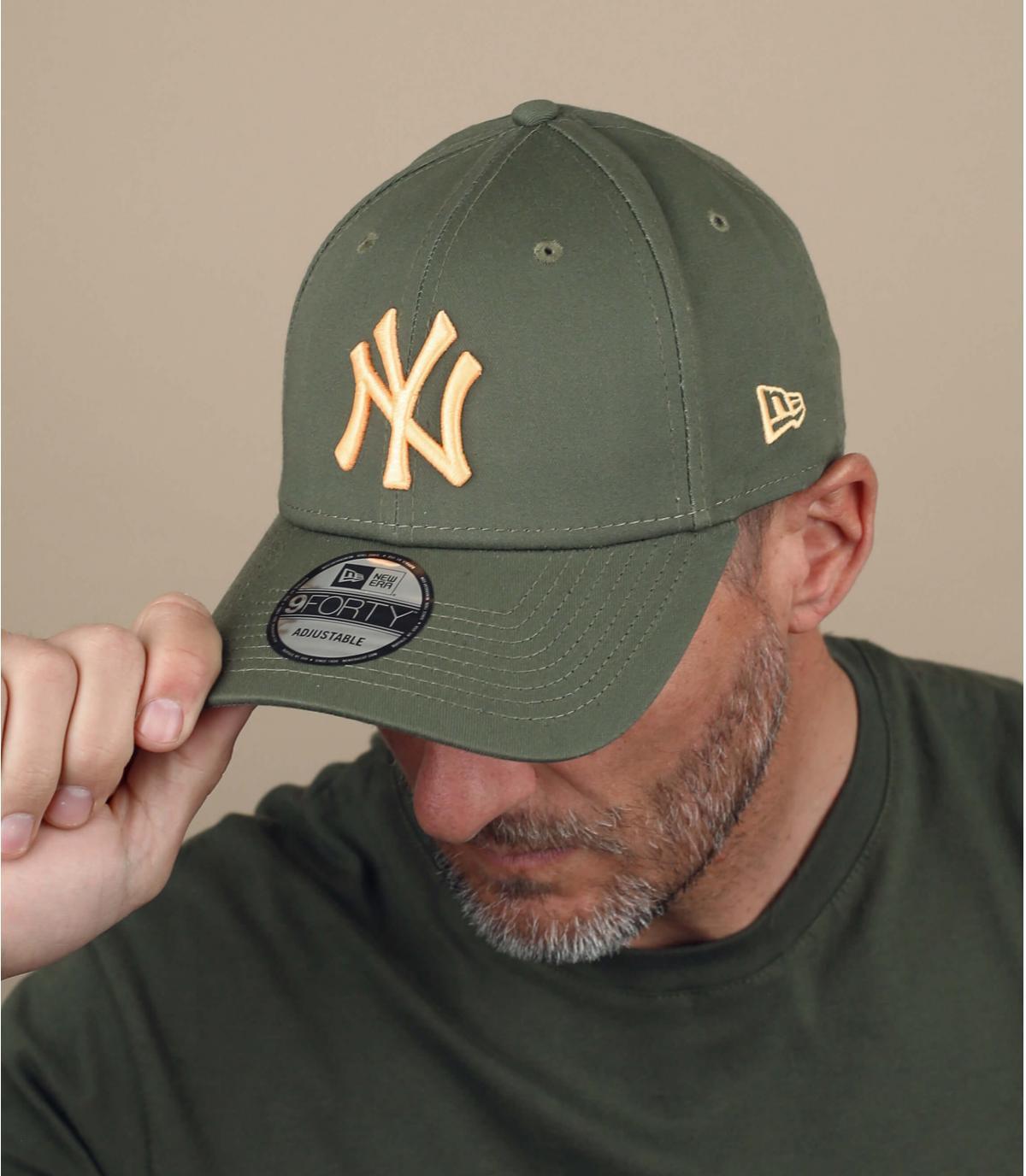 Cap NY grün gelb
