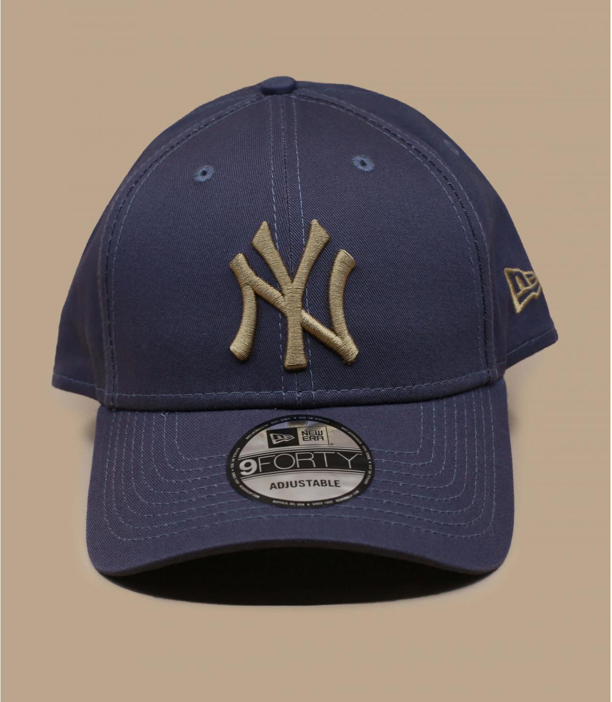 Cap NY grau beige
