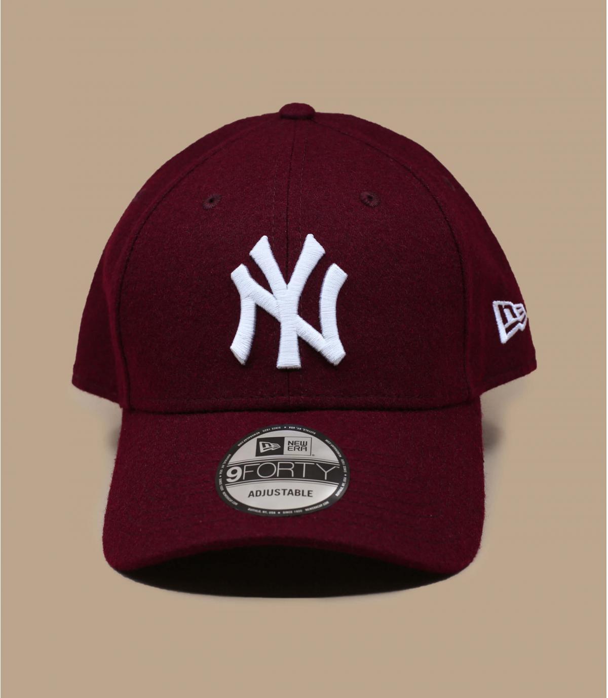 Cap NY bordeaux Wolle