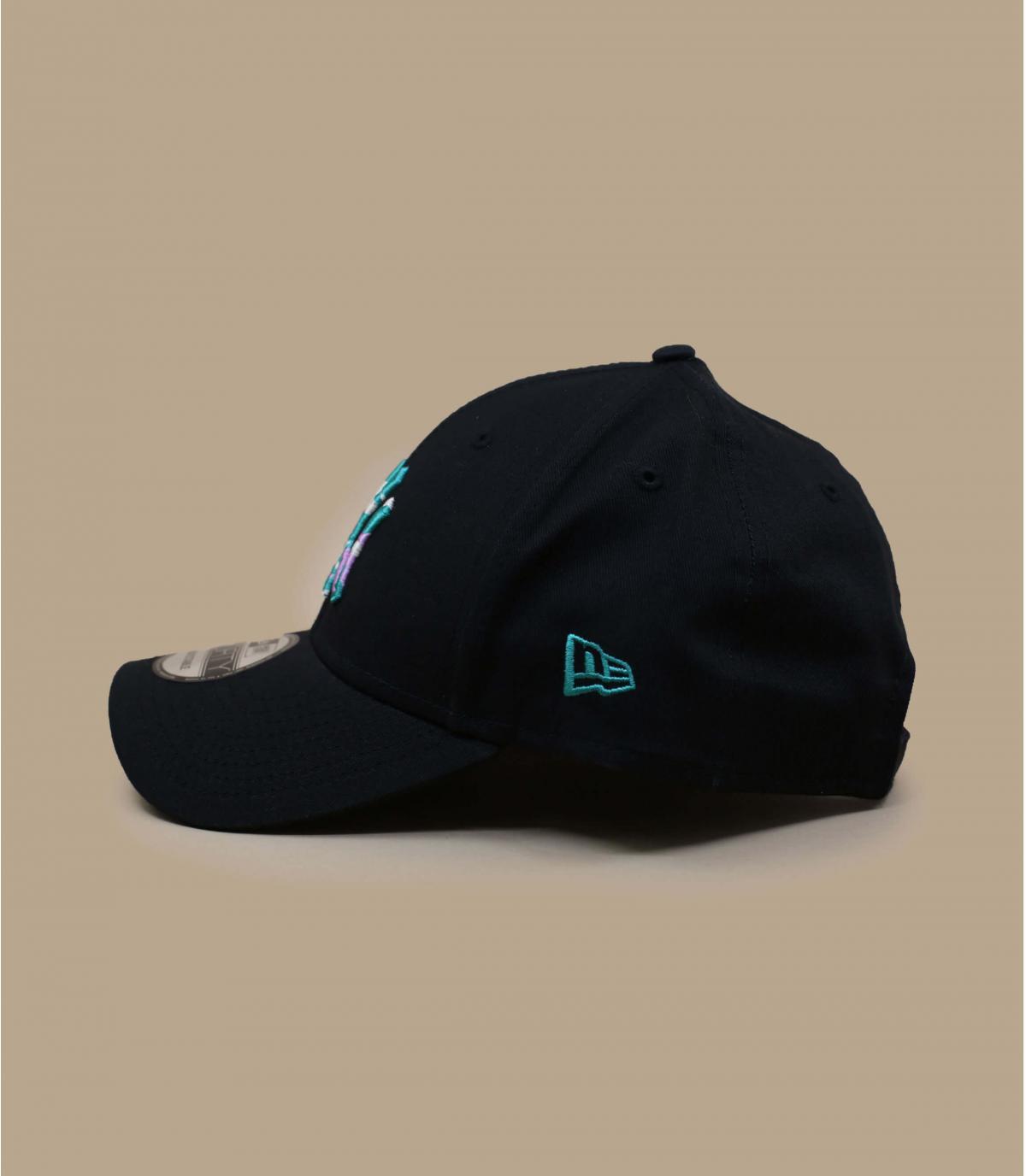 Cap NY schwarz Motiv