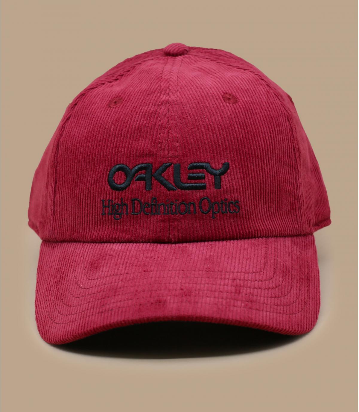 Cap Oakley Kordsamt rot