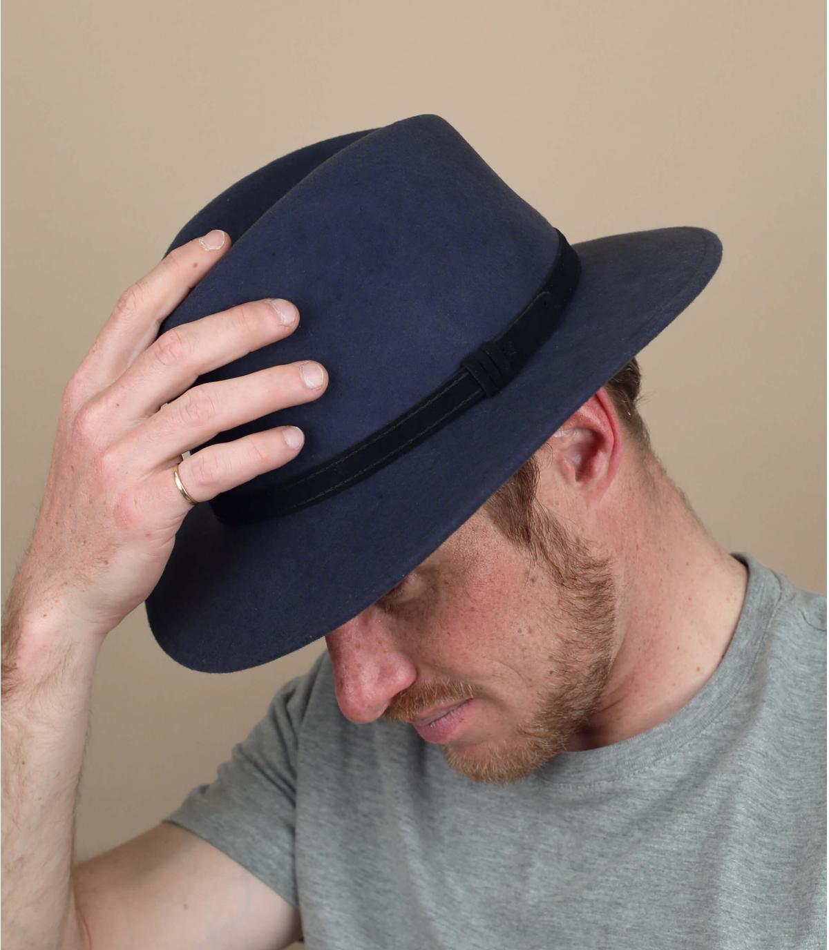 Hut grau Wolle
