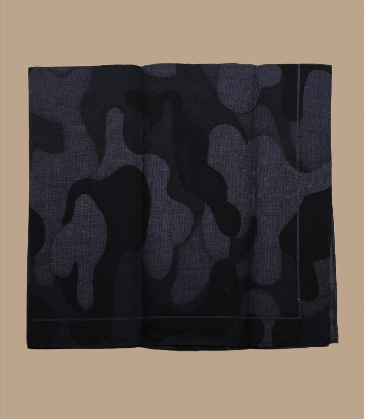 Bandana camo schwarz