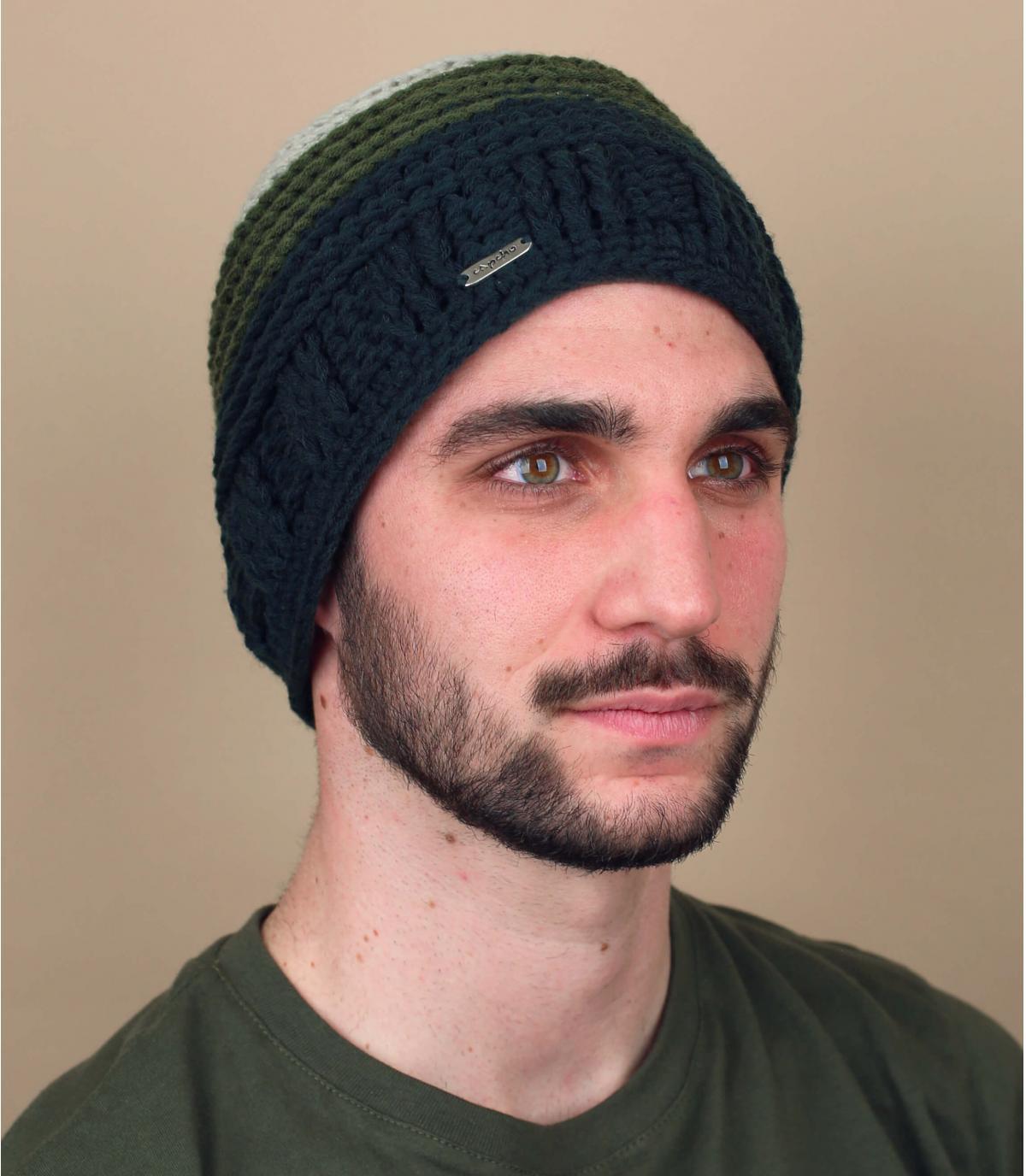 Mütze grün abgestuft