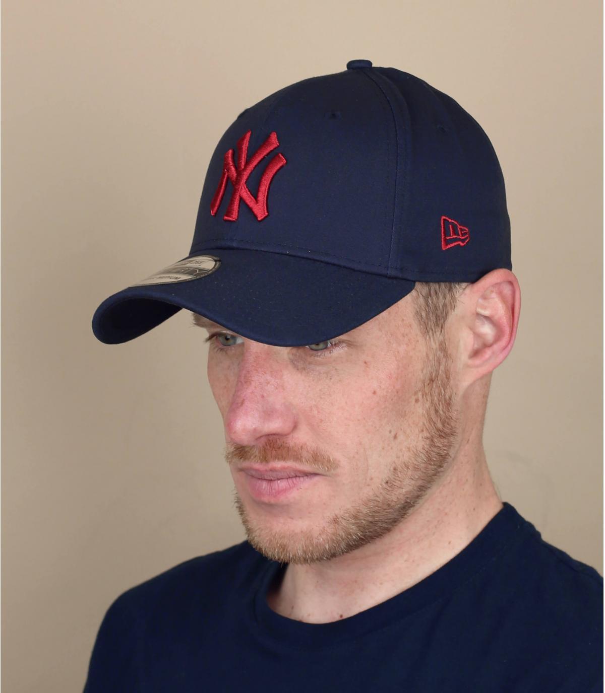 NY Cap blau rot