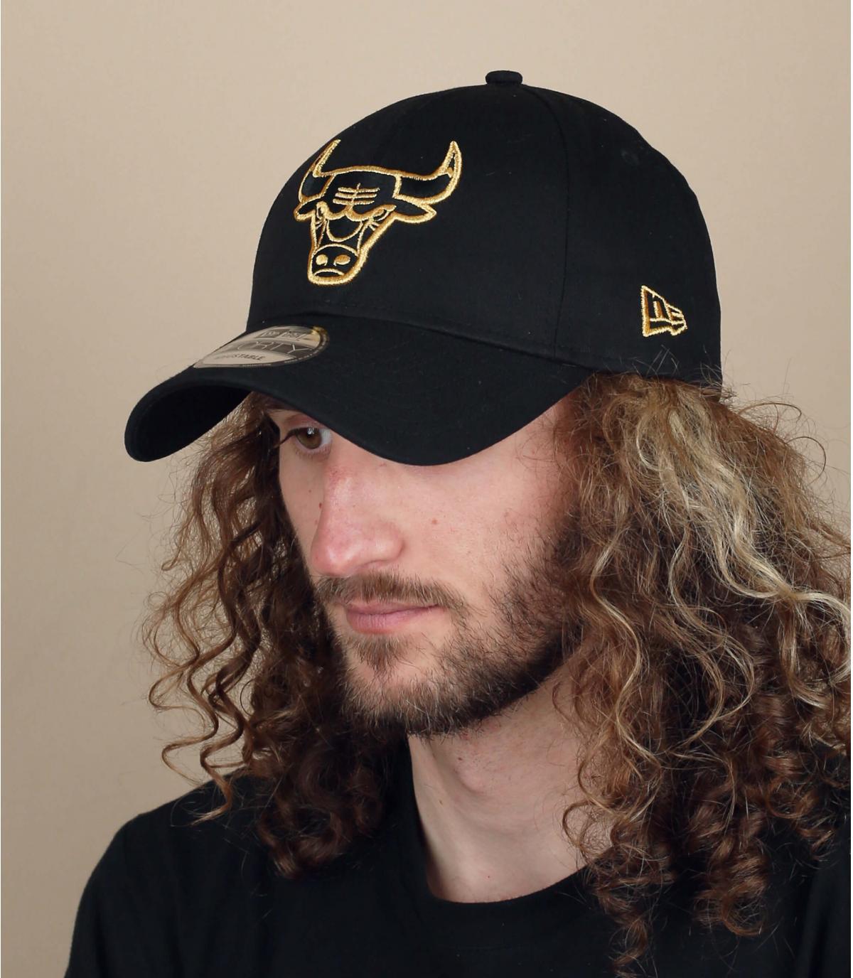 Cap Bulls schwarz Gold