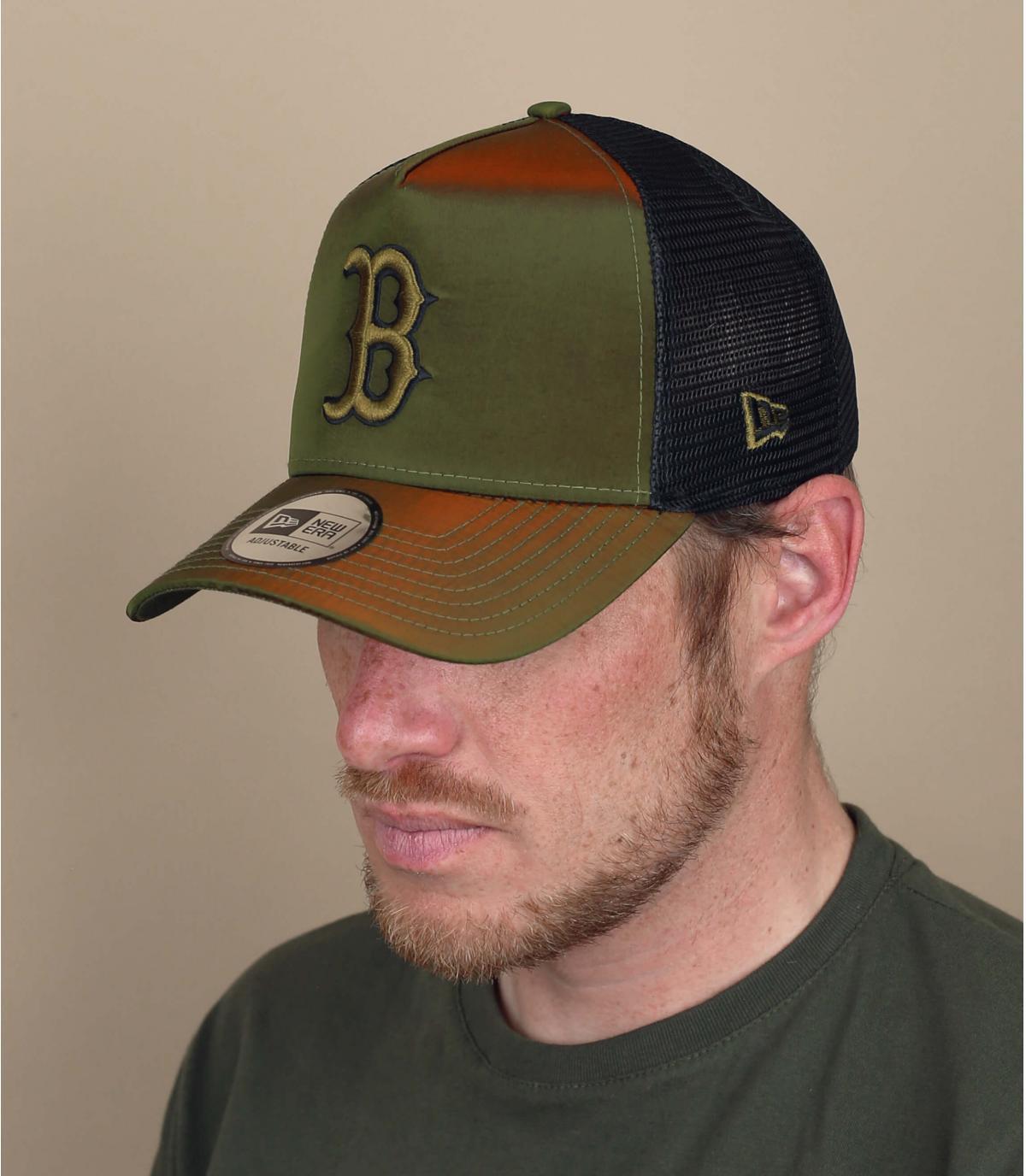Trucker Cap B grün Reflexion
