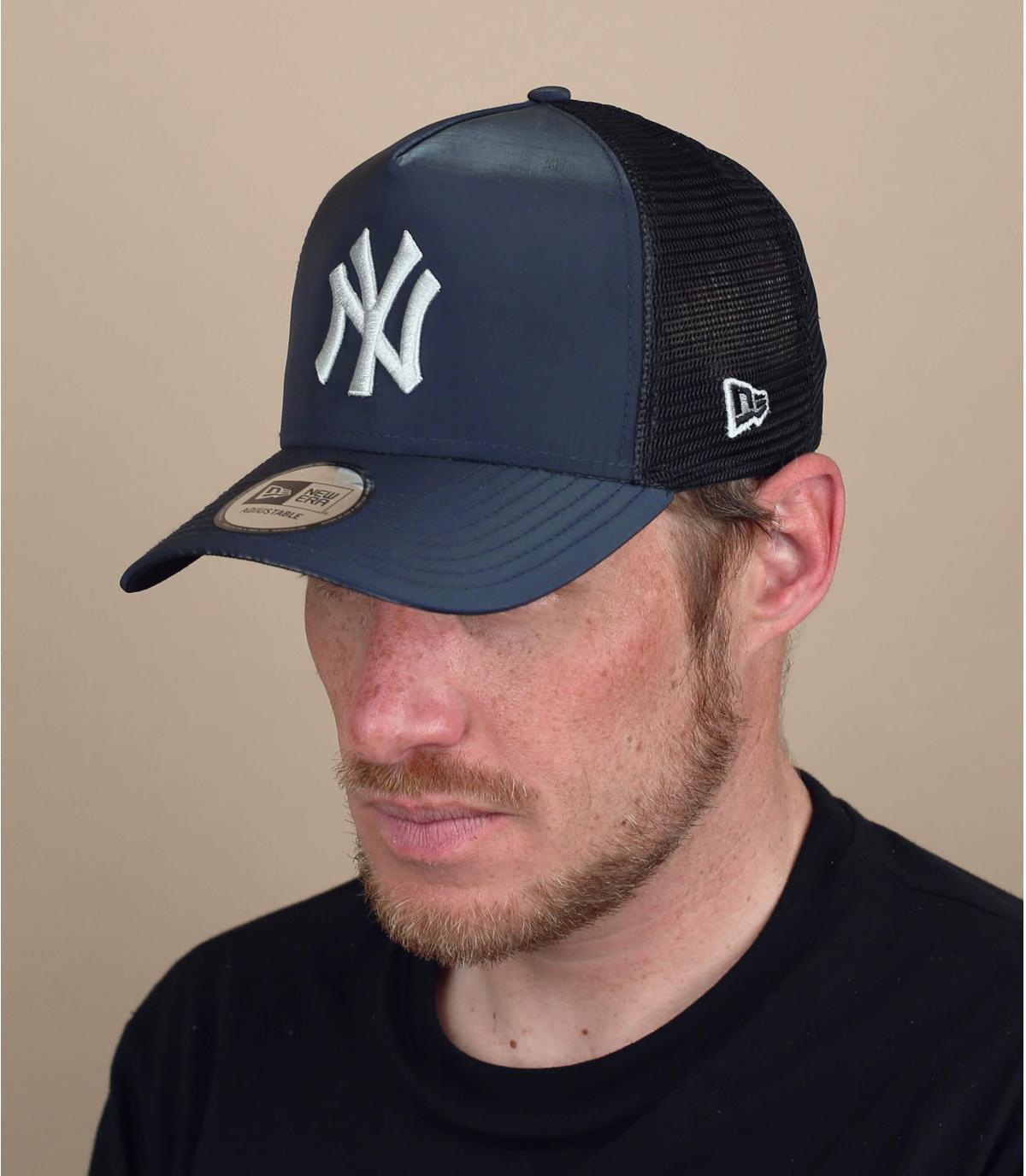 Trucker Cap NY schwarz Silber