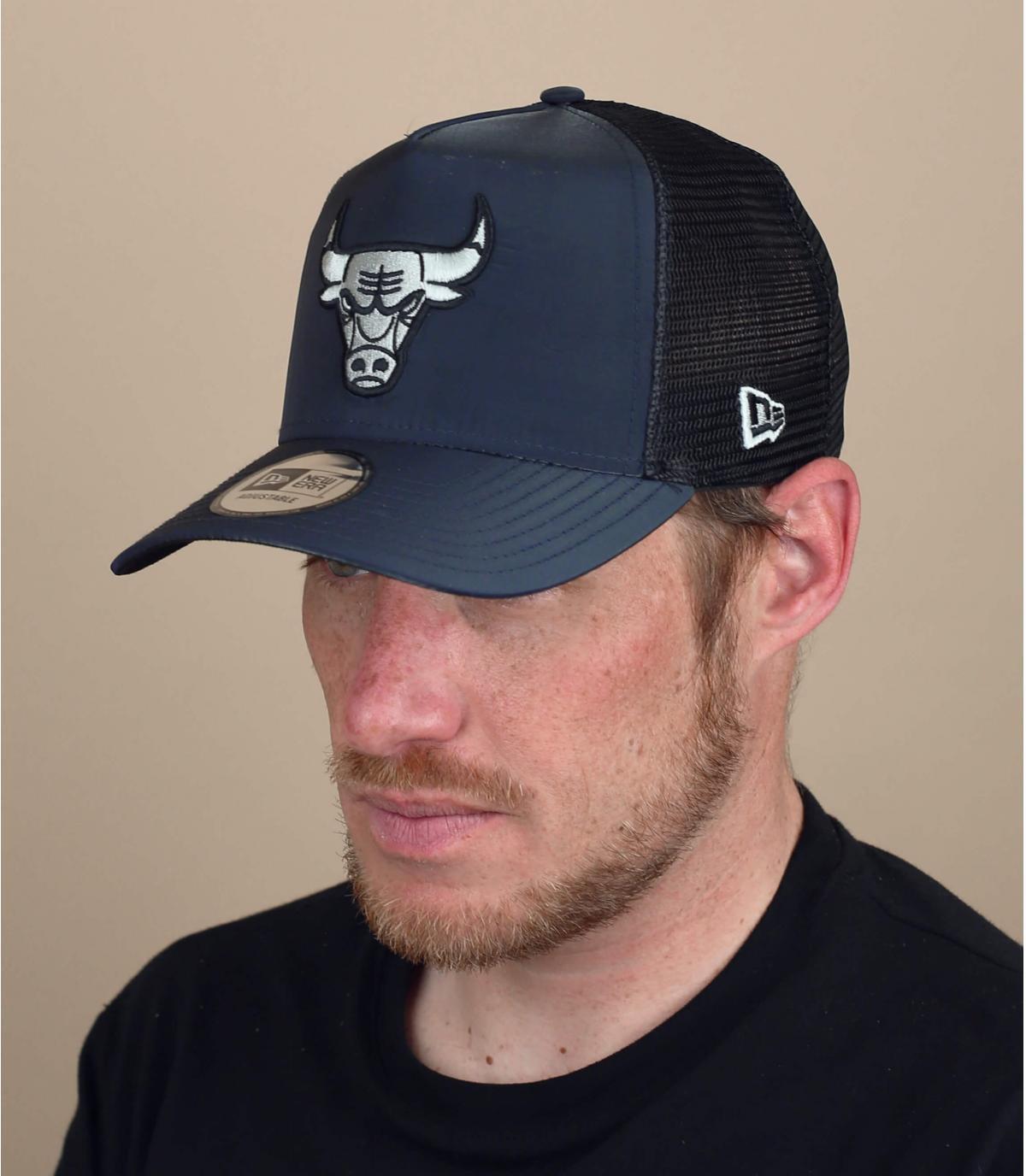 Trucker Cap Bulls schwarz Silber