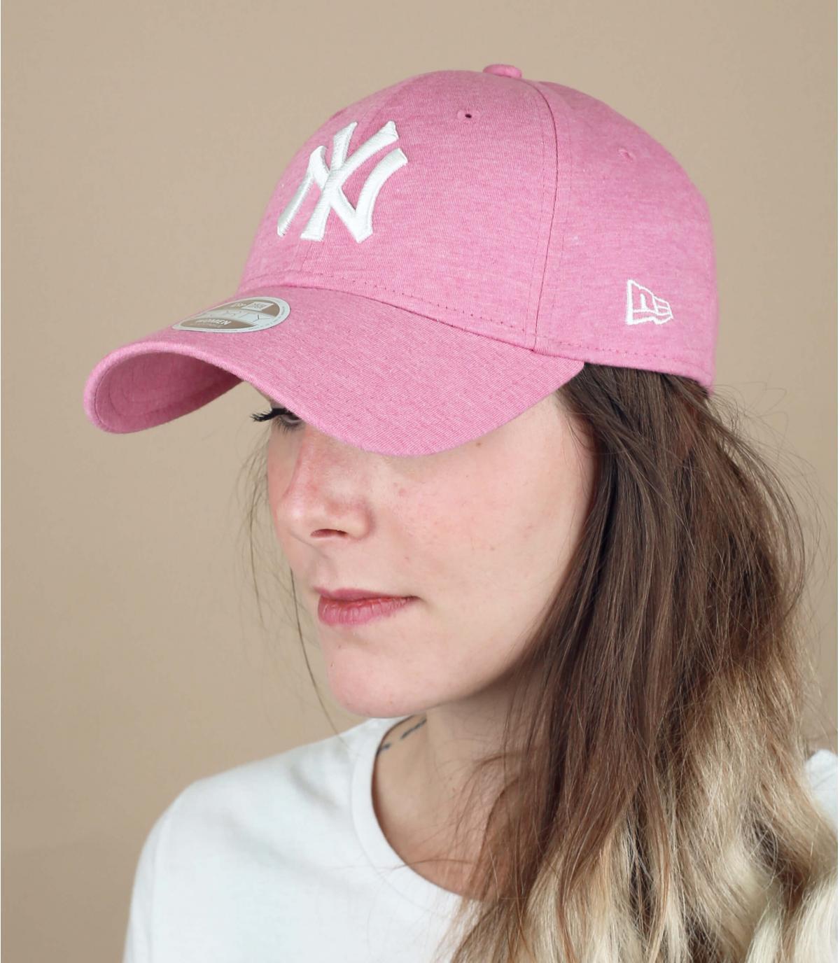 Damen Cap NY rosa