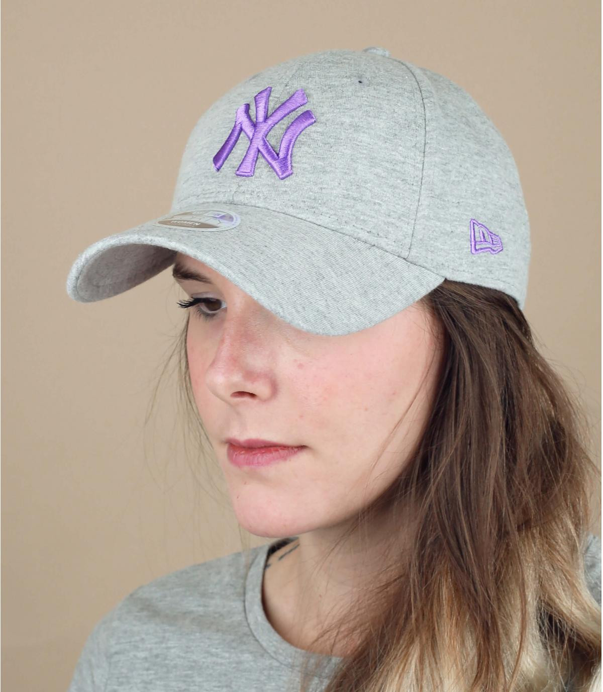 Damen Cap NY grau
