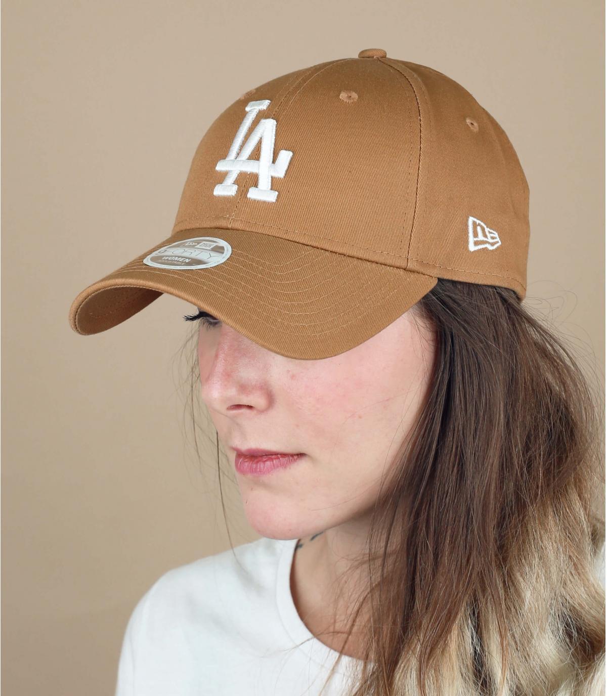 Damen Cap LA beige
