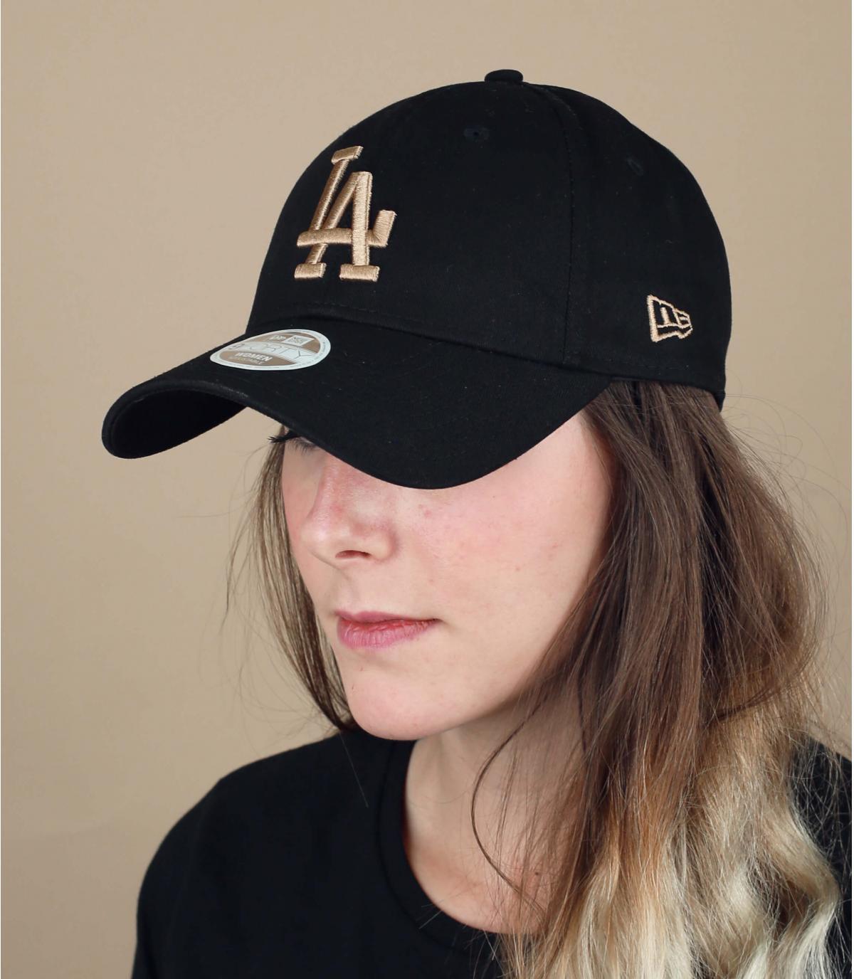 Damen Cap LA schwarz