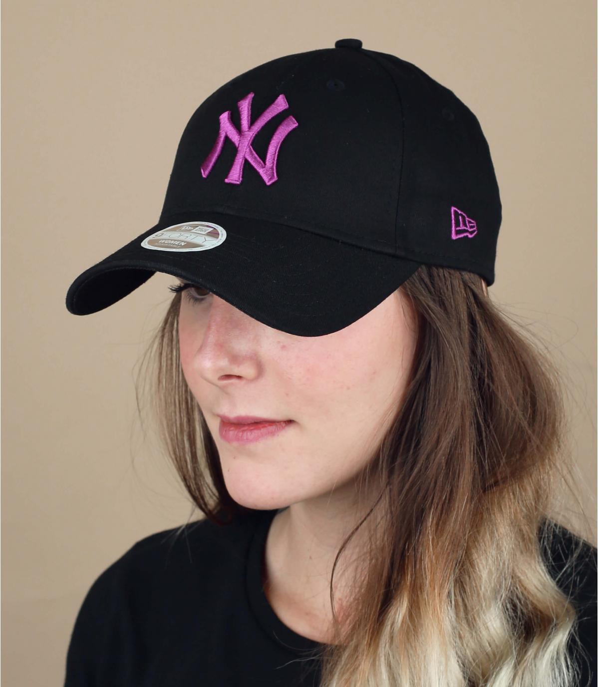 Damen Cap NY schwarz
