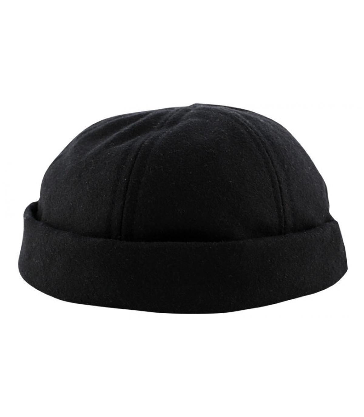 Schwarze Flat Cap