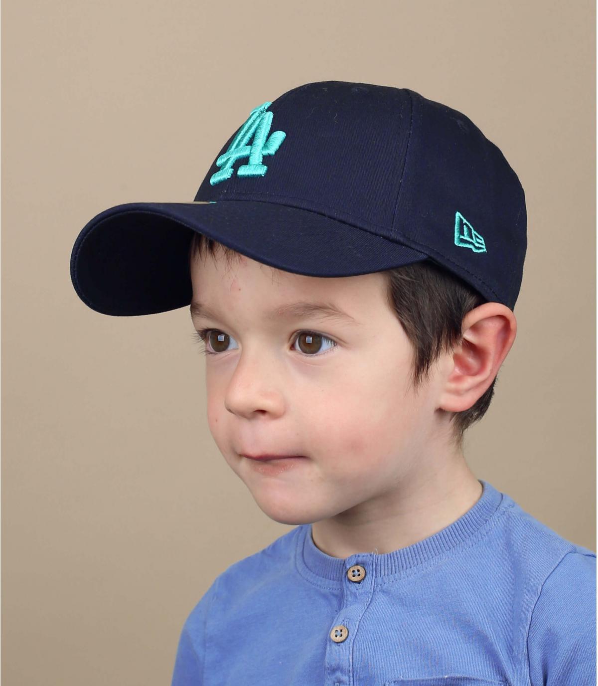 Kinder Cap LA blau